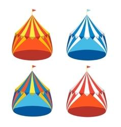 Circus Tent Set vector image