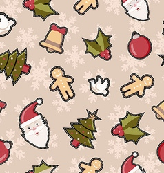 Christmas decoration patch icon pattern background vector image
