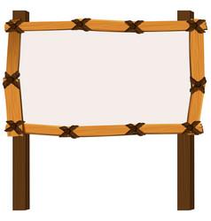Wooden frame on white background vector