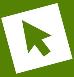 arrow sign   white icon vector image