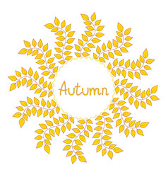 Autumn decorative frame vector