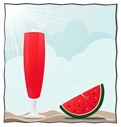 Cocktails and fruits vector