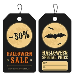 Halloween special sale price tags vector