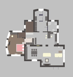 05 house plan v vector