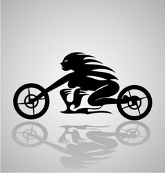 Tribal motorcycle girl vector