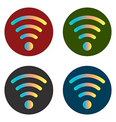 Wi fi icon stickers vector