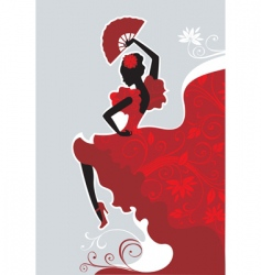 flamenco dancer vector image