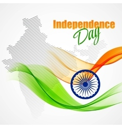 Creative indian independence day concept vector