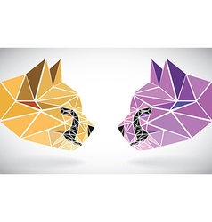 Polygonal abstract geometric triangle cheetah low vector