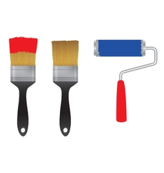 Brush tools vector