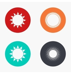 Modern sun colorful icons set vector
