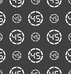 45 second stopwatch icon sign seamless pattern on vector