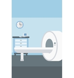 Background of hospital room with mri machine vector