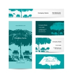 Business card design tropical resort vector