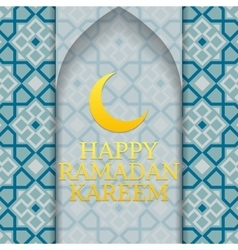 Happy ramadan kareem poster vector