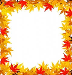 Autumn leaf frame vector