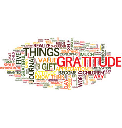 Attitudes and gratitude text background word vector