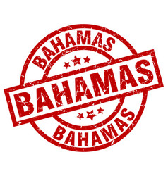 Bahamas red round grunge stamp vector