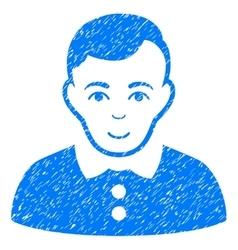 Boy Grainy Texture Icon vector image vector image