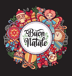 Buon natale christmas template vector