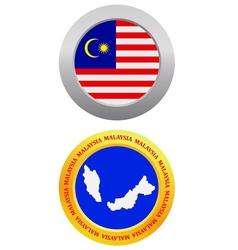 button as a symbol MALAYSIA vector image vector image