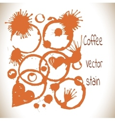 coffee paint stains set vector image vector image