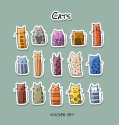 colorful cats sticker set for your design vector image vector image
