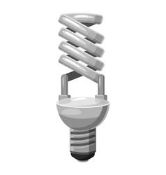 Energy saving lamp icon gray monochrome style vector