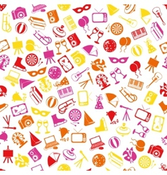 entertainment seamless pattern vector image vector image