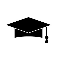 Graduation hat icon vector