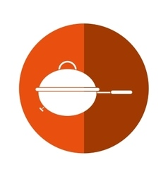 Grill barbecue kettle food camping button shadow vector