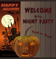 halloween invitation poster design vector image