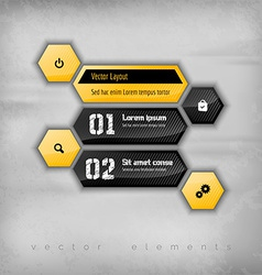 Hexagon Layout vector image vector image