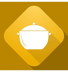 icon of Saucepan with a long shadow vector image vector image