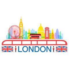 London england travel landmarks vector
