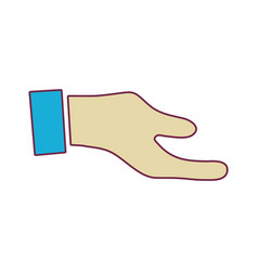 Man hand to do signal or communication vector