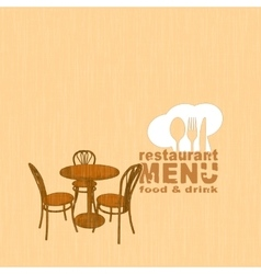 menu template with painted restaurant table and vector image vector image