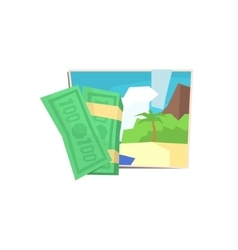 Money and beach photo vector