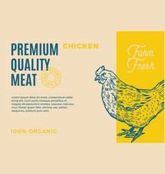premium quality chicken abstract meat vector image vector image