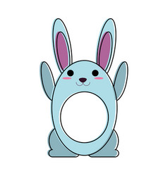 rabbit or bunny cartoon icon image vector image