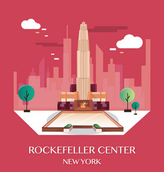 rockefeller center new york vector image