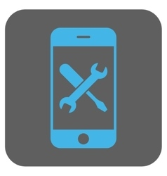 Smartphone tools rounded square icon vector
