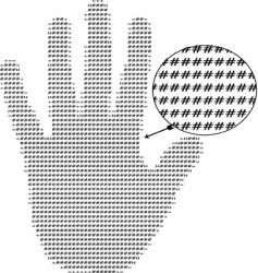 text hand vector image vector image