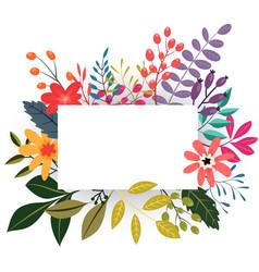 Vintage flowers greeting card vector