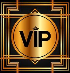 Vip card vector
