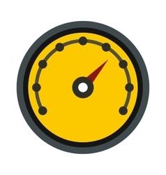 Yellow speedometer icon flat style vector image vector image
