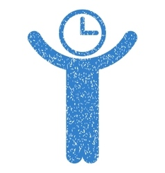 Time manager grainy texture icon vector