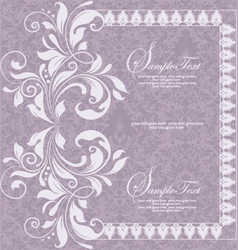 Purple invitation card design vector