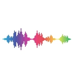 Colorful Sound waves vector image