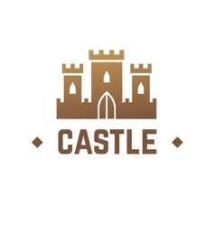 Castle logo design knights fortress with vector